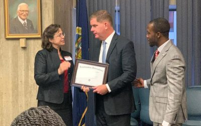 Mayor Marty Walsh attends City of Boston Toastmasters Club Charter Ceremony