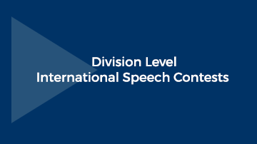 2020 Division International Speech Contests